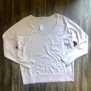 🎃2 FOR 22 - NWT's Pink Scoop Neck Sweater